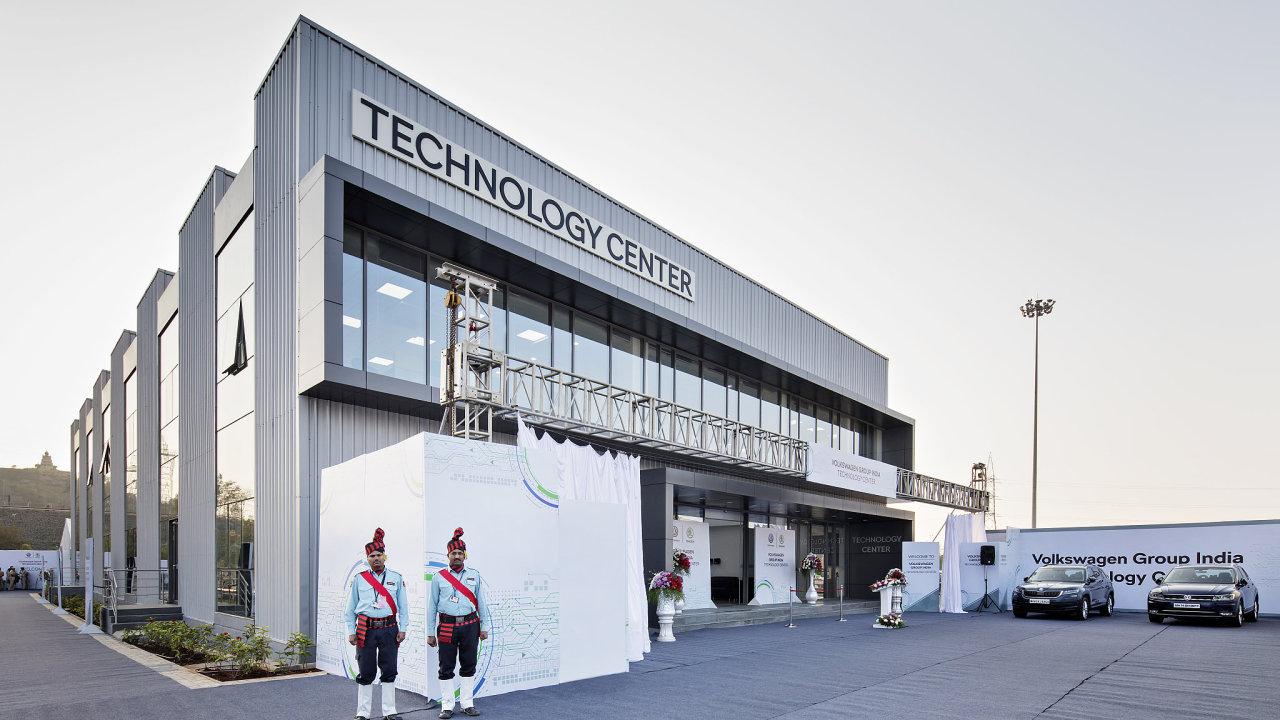 Technologické centrum Škody a Volkswagenu v indickém Puné.