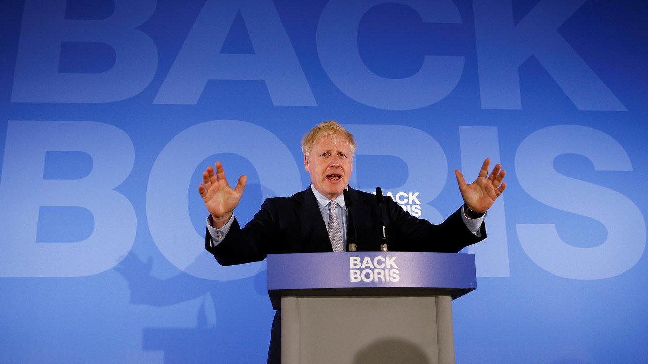 """""""Sdohodou nebo bez dohody"""" hodlá Evropskou unii opustit zatím nejpravděpodobnější budoucí britský premiér, bývalý ministr zahraničí adlouholetý starosta Londýna Boris Johnson."""