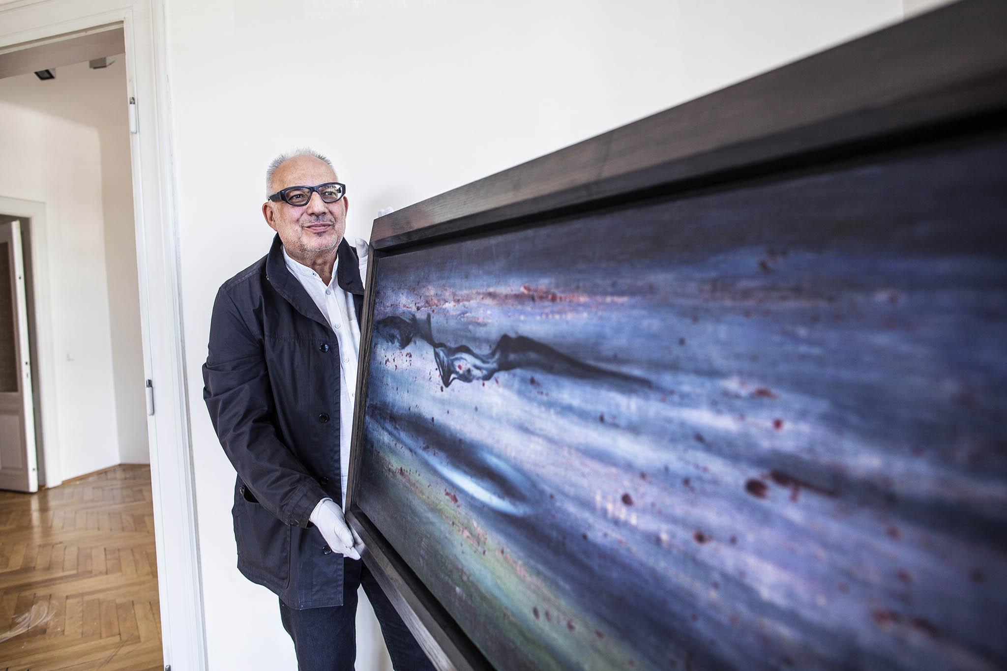 Jiri Svestka Gallery má ve své nabídce také obrazy klasické moderny, jako například Toyen Ile de Sein z roku 1950.