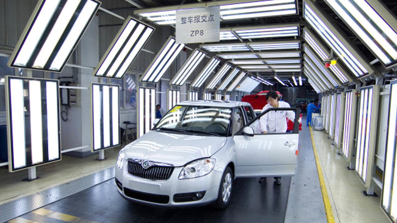 Mírný pokles celosvětového prodeje Škodě Auto způsobil propad vČíně, která je jejím největším trhem před Německem aČeskem.