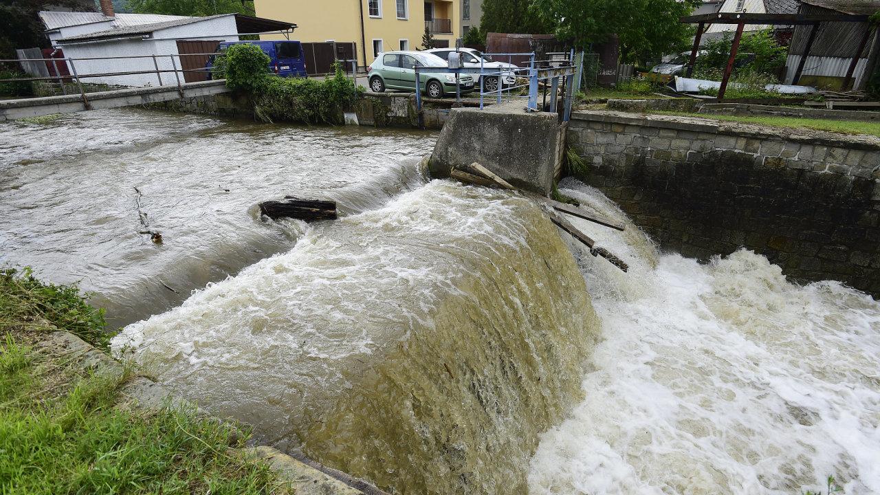 povodeň olomoucko