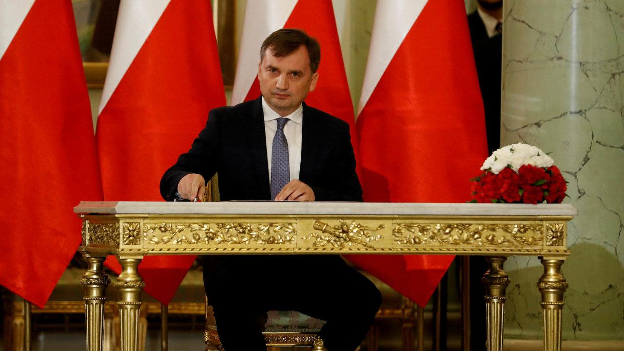 Strůjce soudní reformy: Ministr Ziobro je hlavním architektem soudní reformy, kvůli níž Polsko vede spory sEvropskou komisí.