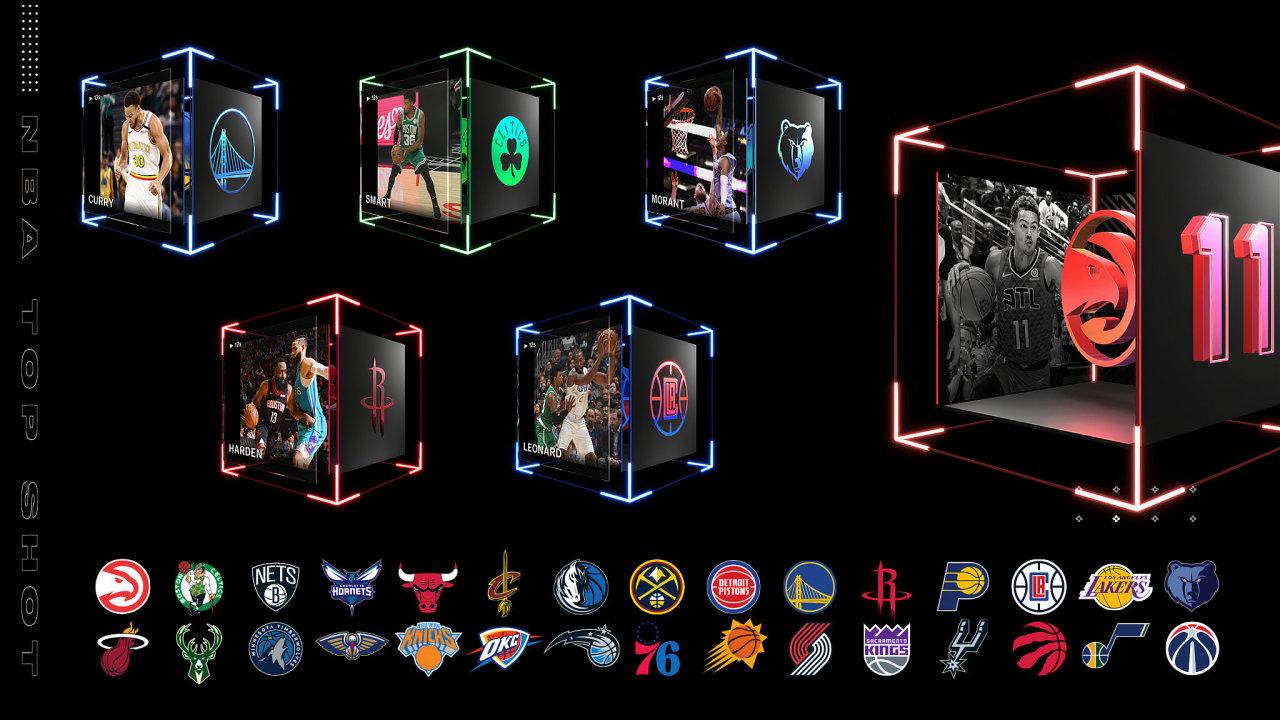 NBA Top Shot Press Collectibles, basketbalové kartičky