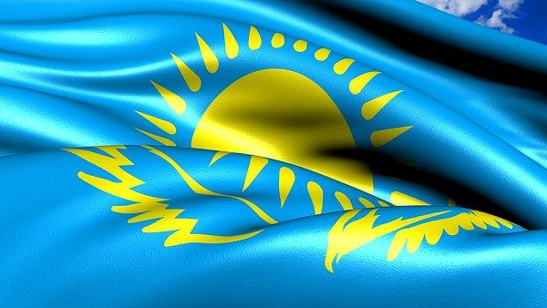 Vlajka Kazachstánu
