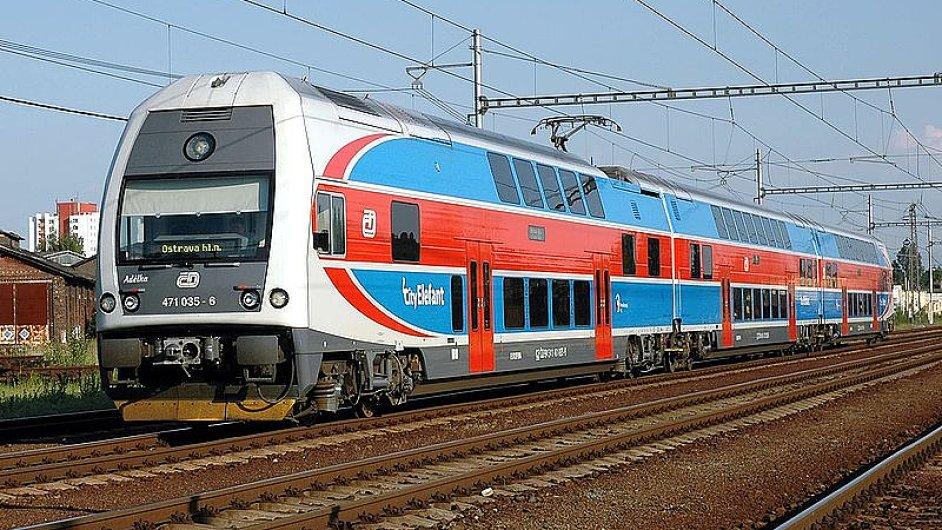 Elektrická jednotka v čele 471.035 ČD, Ostrava báňské nádraží
