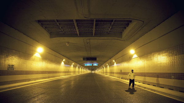 Tunel Blanka - Ilustra�n� foto.