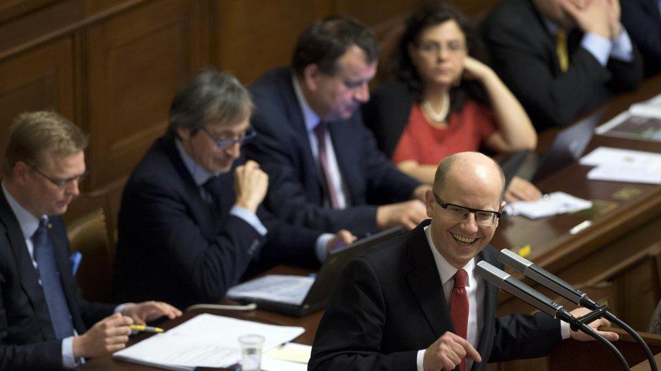 Bohuslav Sobotka během jednání sněmovny