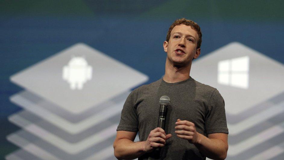 Šéf a zakladatel Facebooku Mark Zuckerberg