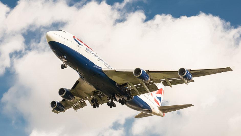 Letadlo British Airways, ilustrační foto.