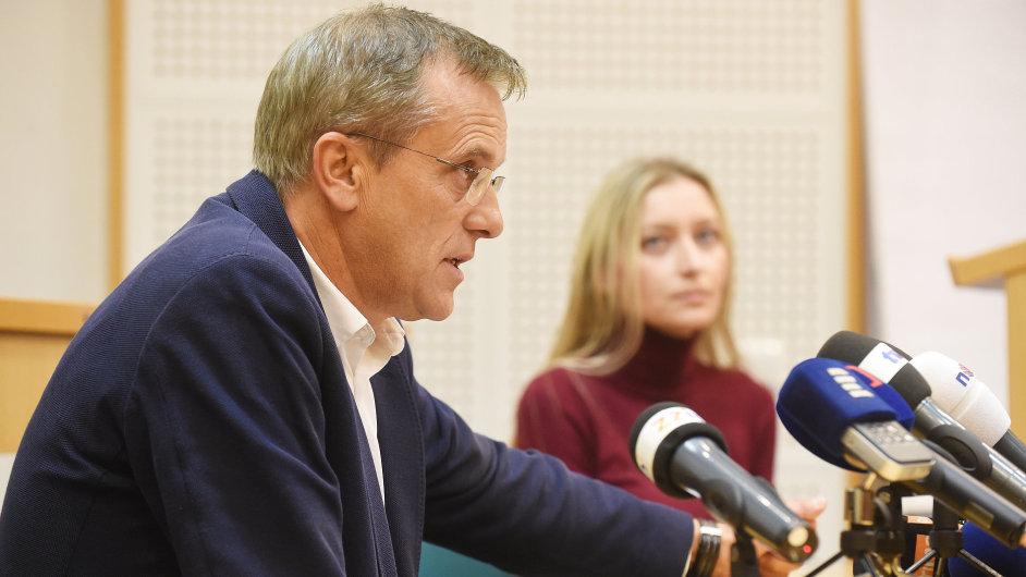 Hejtman Olomouckého kraje Jiří Rozbořil vystoupil v Olomouci na briefingu.