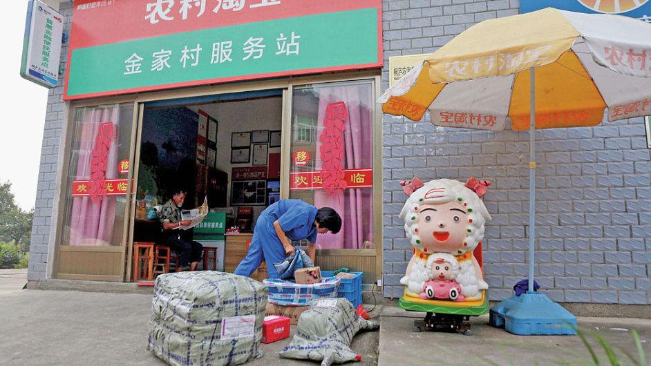 Alibaba expanduje na čínském venkově pomocí tzv. servisních center. Nyní jich provozuje kolem 1200, v příštích letech mají vyrůst tisíce dalších.