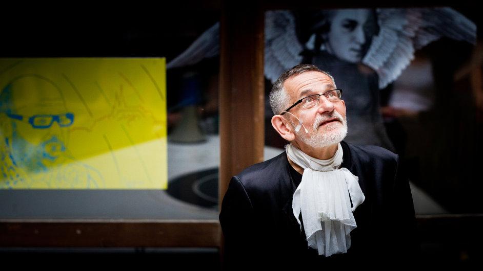 Miloš Štědroň na snímku z loňského roku, kdy uváděl představení v divadle Husa na Provázku.