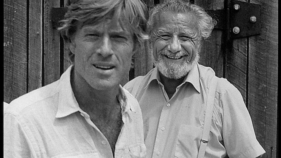 Robert Redford a Frank Daniel na Sundance festivalu roku 1978.