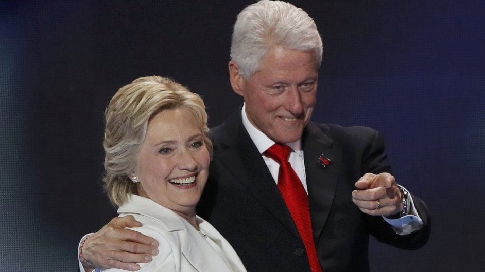 Bill Clinton a Hillary Clintonová.