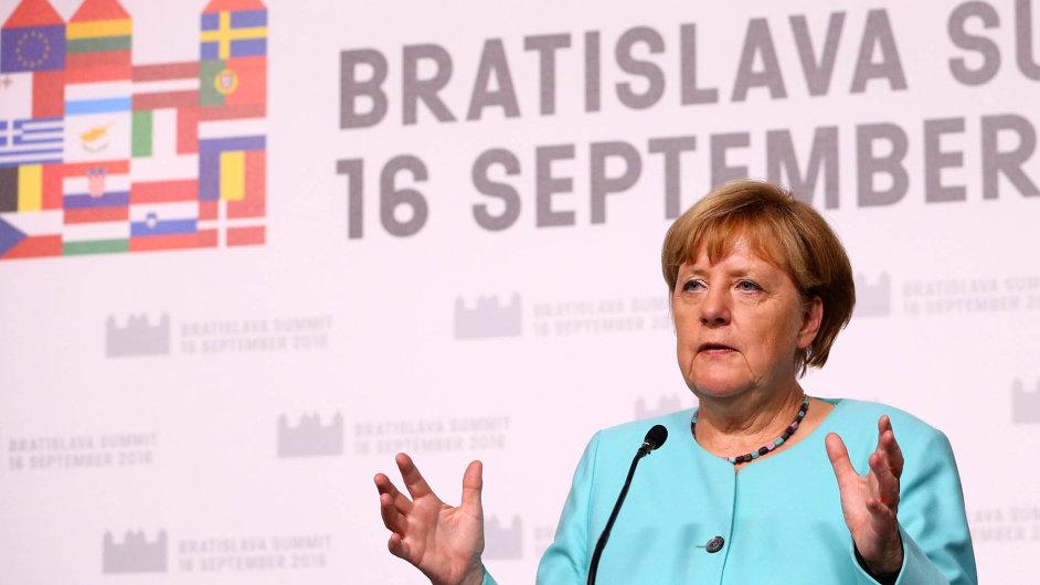 Bratislavský summit: Německá spolková kancléřka Angela Merkelová.