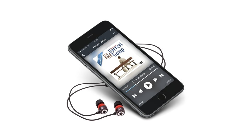 Aplikace Audiotéka.cz na iPhonu 6s