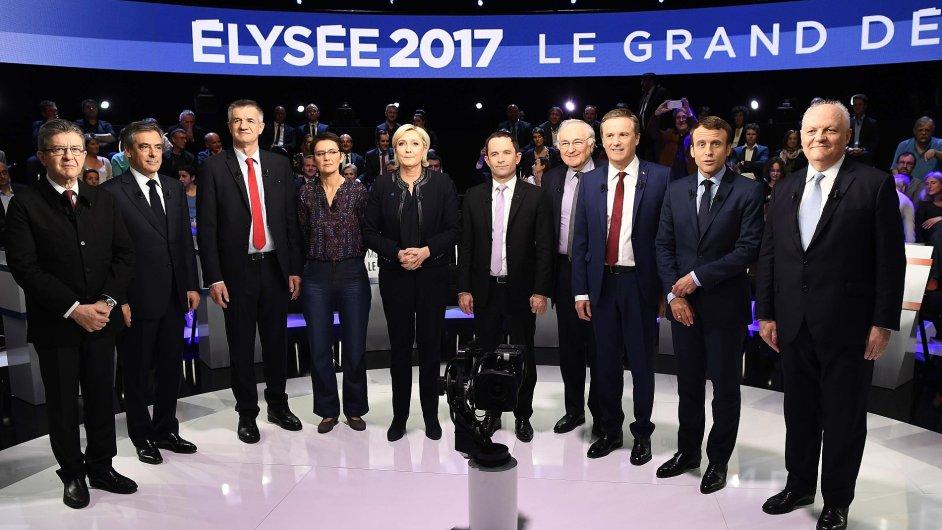 Druhá televizní debata francouzských voleb