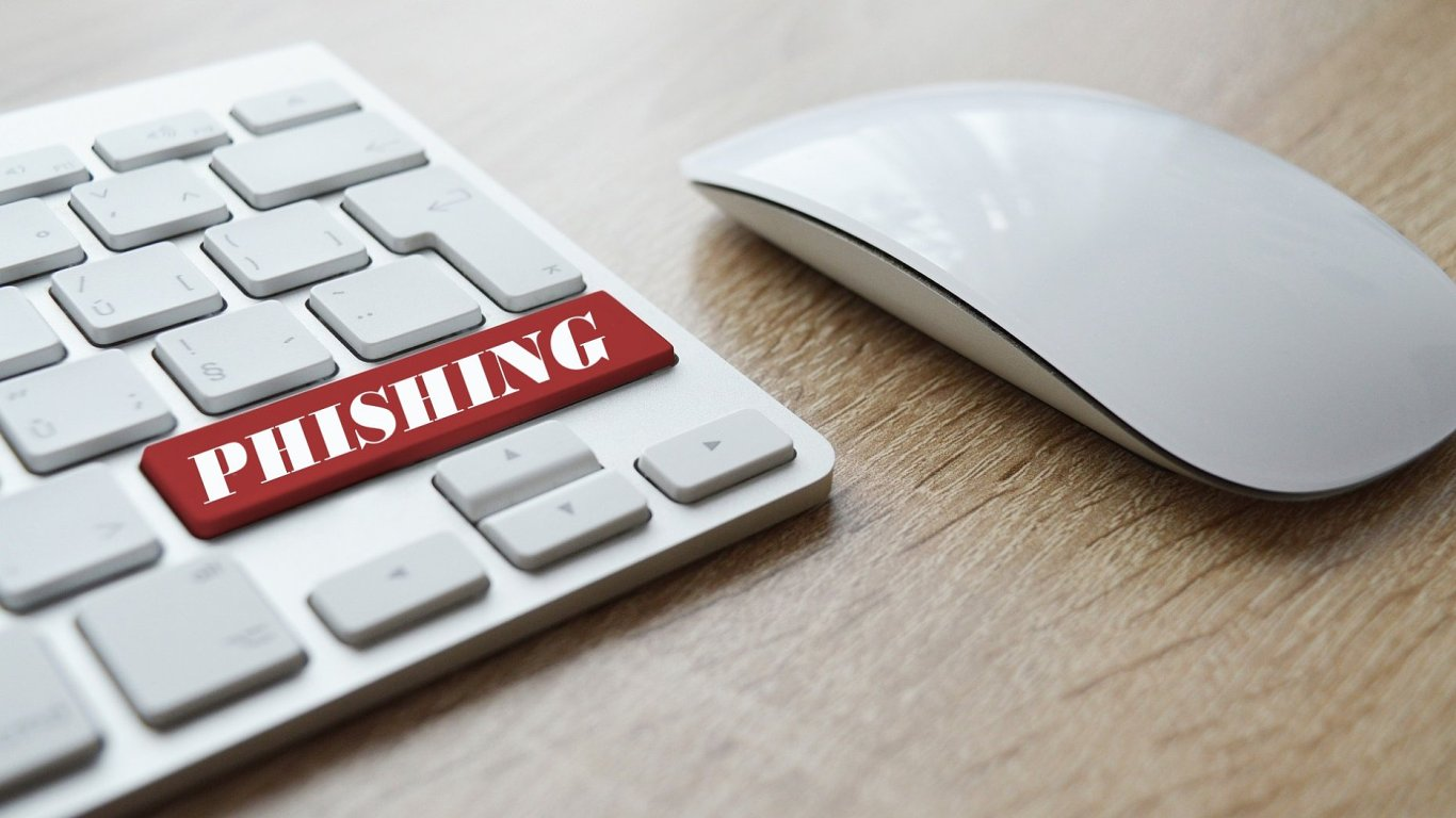 Phishingový útok, ilustrace
