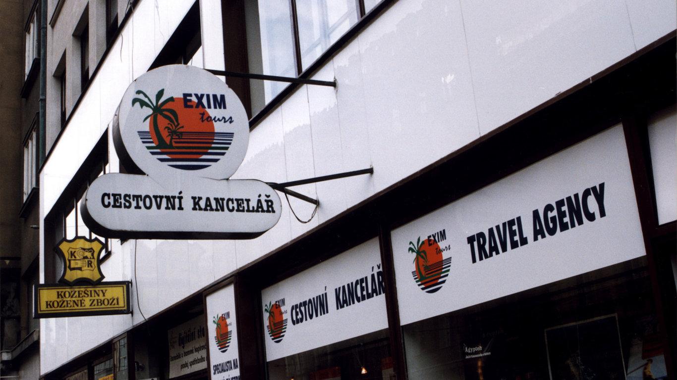 Pobočka cestovní kanceláře Exim tours.