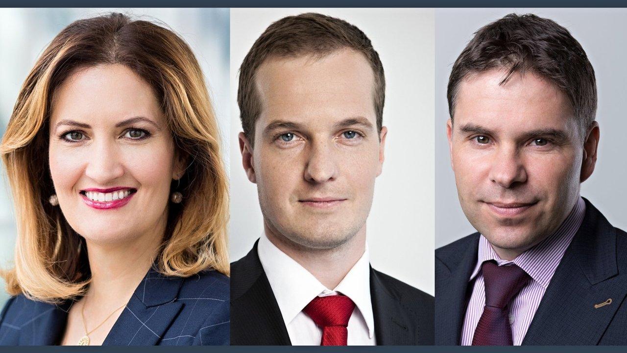 Alice Machová, Martin Majdloch a Jiří Svoboda novými partnery EY