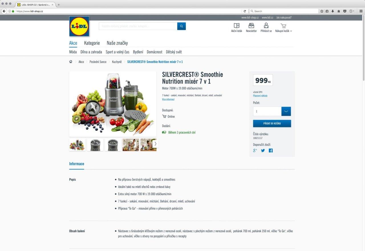 E-shop Lidl Česká republika