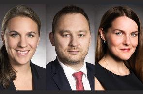 Gabriela Porupková, Miroslav Dudek a Pavlína Tejralová, advokátní kancelář bpv BRAUN PARTNERS
