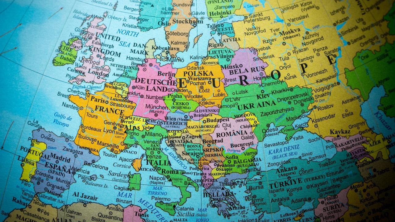 Střední Evropa mapa