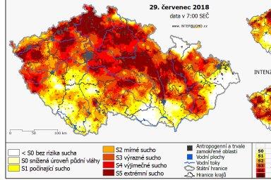 Červenající se Česko. Problém se suchem má stále více okresů