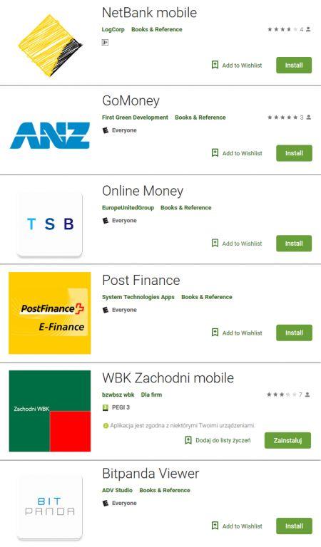 ESET falešné bankovní aplikace v Google Play