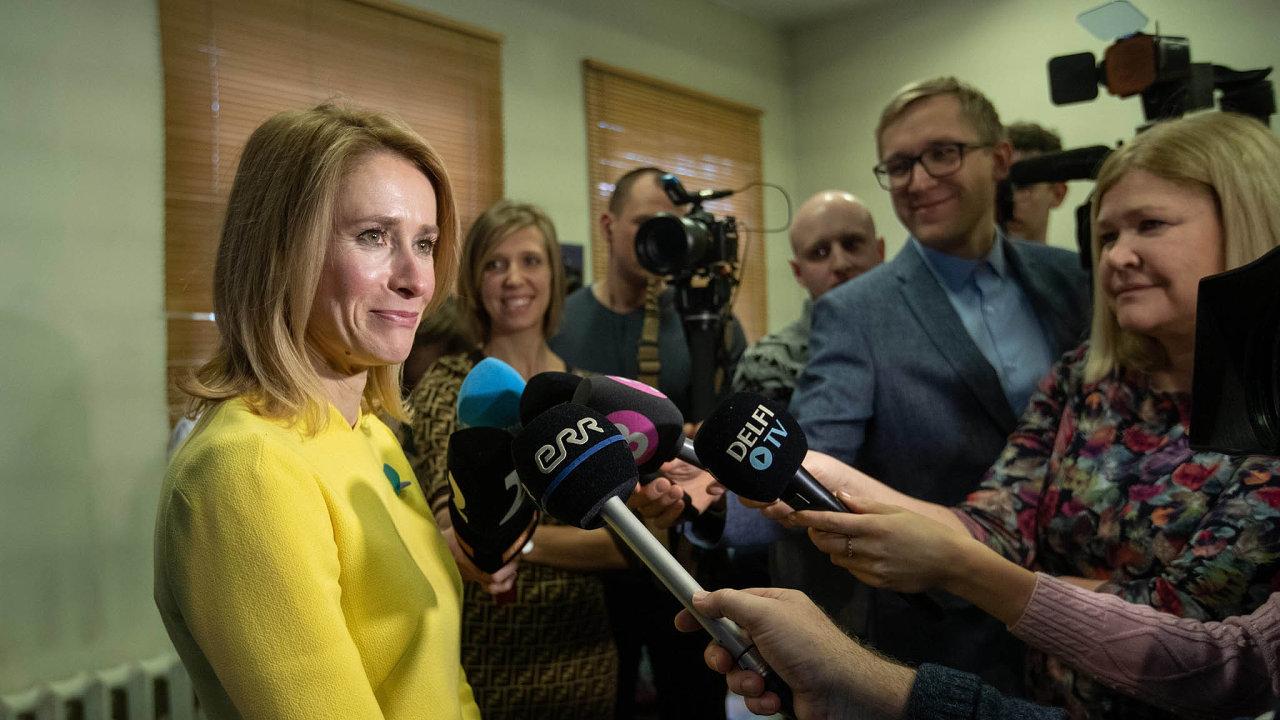 Vítězka. Kaja Kallasová zkouší sestavit estonskou vládu.