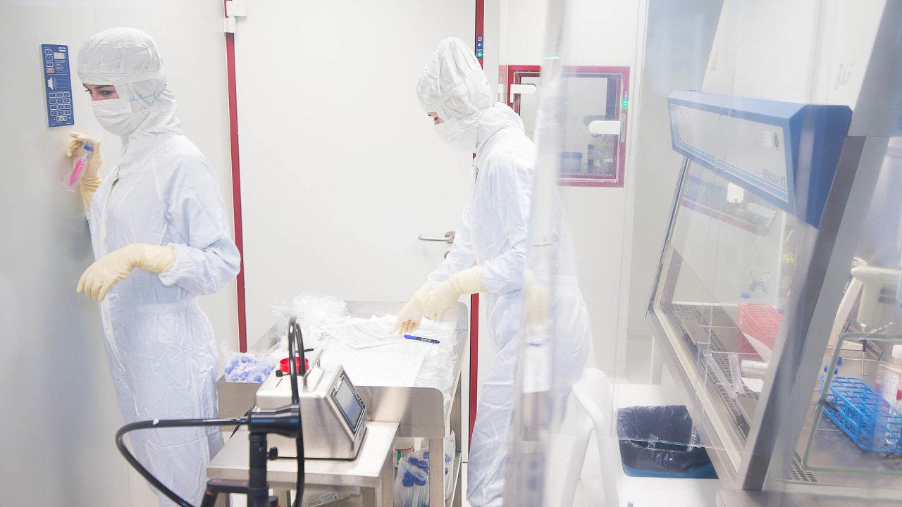 Hledání léku na rakovinu. Laboratoře firmy Sotio zkoumají přípravy k léčbě nádorových onemocnění.