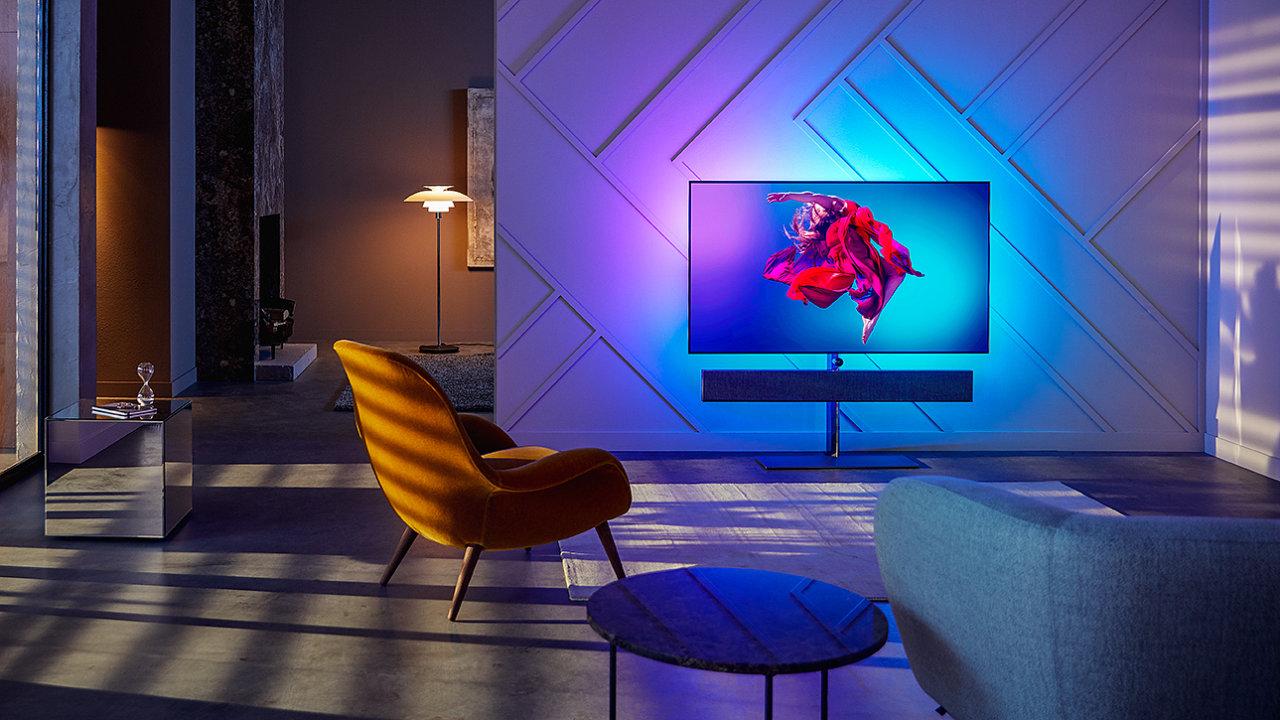 Philips OLED+ 984 láká na povedený design a skvělý zvuk.