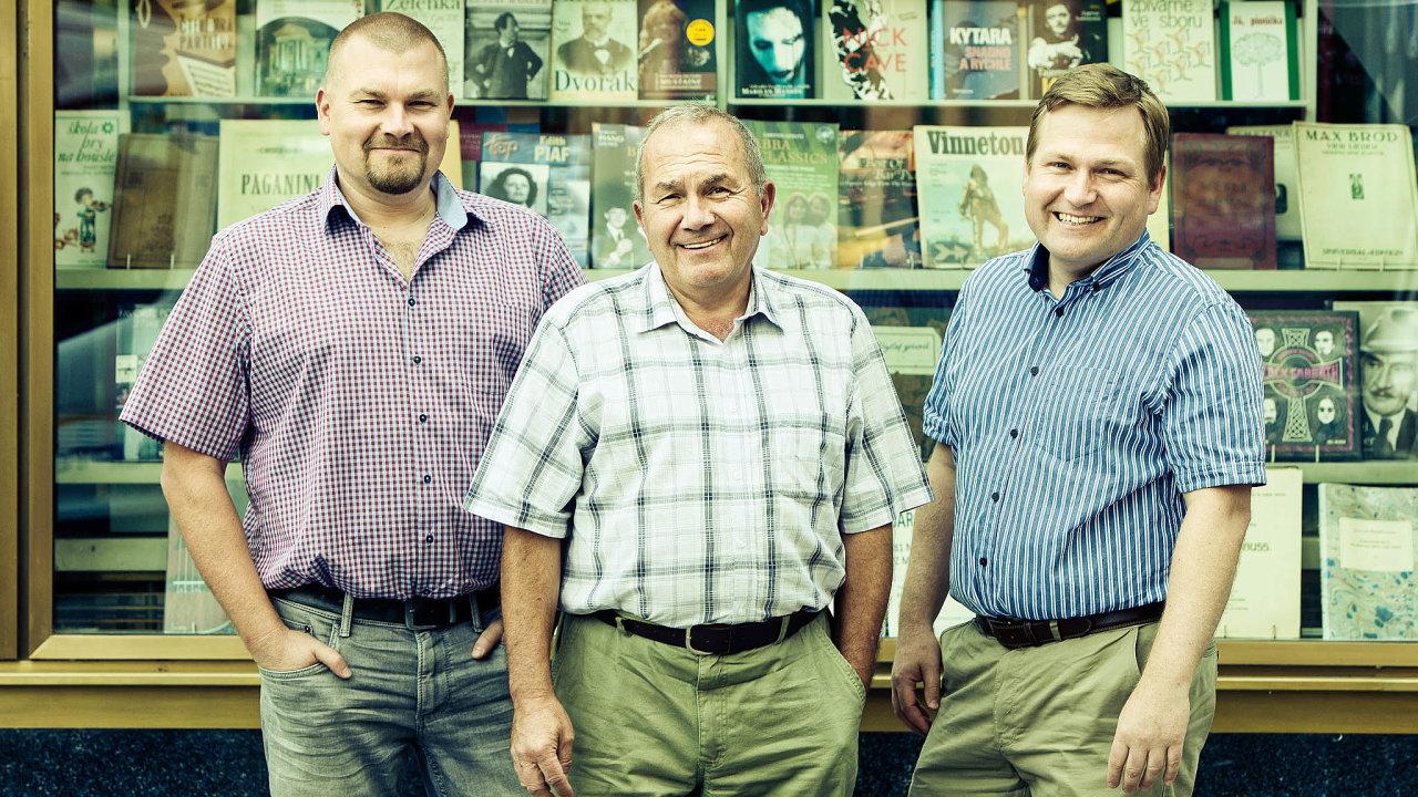 Knihkupectví Kanzelsberger zaslalo ponuceném uzavření prodejen kvůli epidemii koronaviru žádost ostátní půjčku. Peníze ale nedostalo. Firmu vedou otec Jan asynové Martin aJan Kanzelsbergerovi.