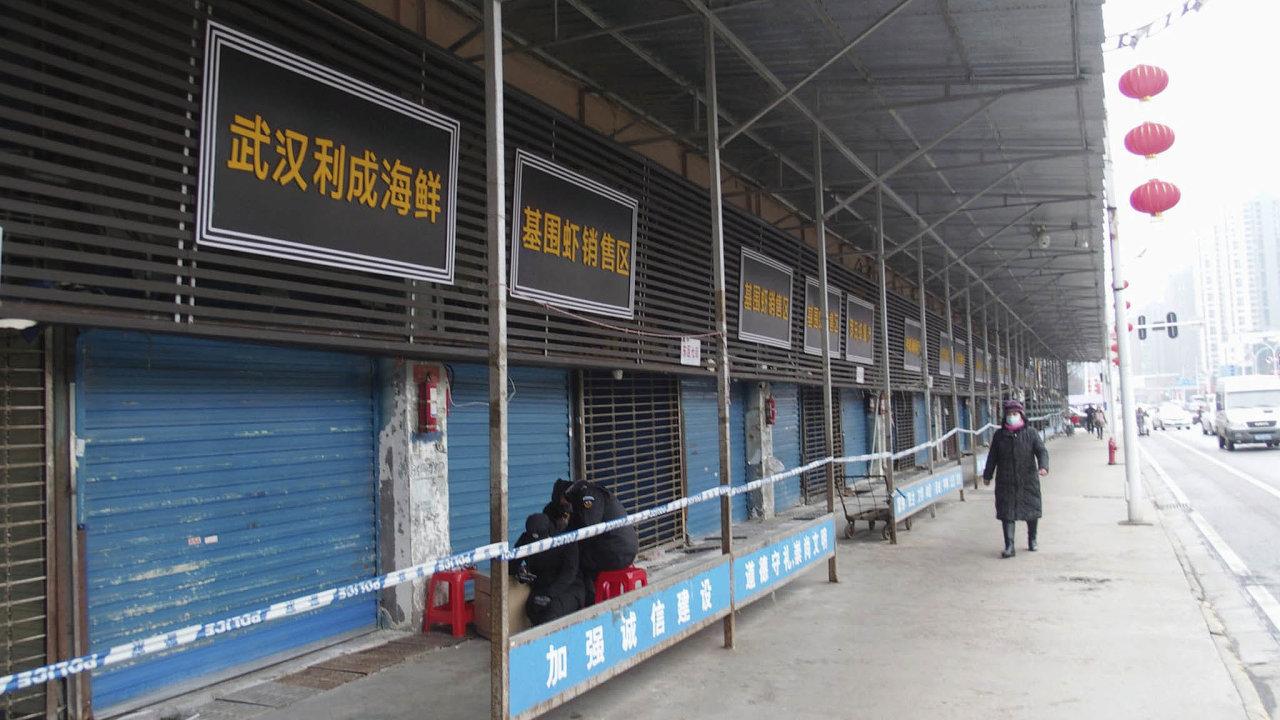 Čínská chřipka. Město Wu-chan, odkud se epidemie pravděpodobně rozšířila docelého světa, během prvního lockdownu napočátku roku, kdy ještě veměstě panoval velký chaos.