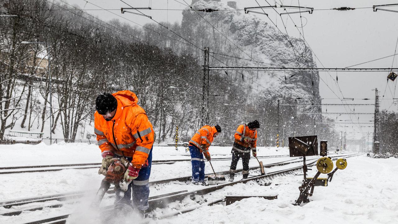 Technická četa, železnice, zima