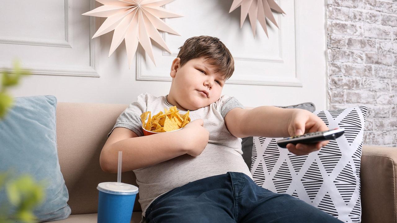 Tlusté dítě, obezita tloušťka, špekoun
