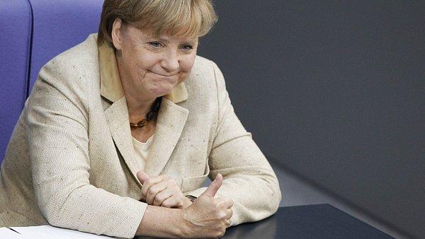 Spokojená německá kancléřka Angela Merkelová.
