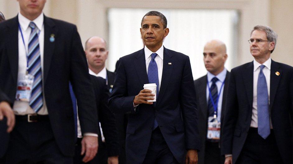 Americký prezident Obama na summitu v kambodžské metropoli Phnompenhu.