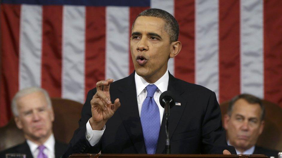 Obama při projevu o stavu unie