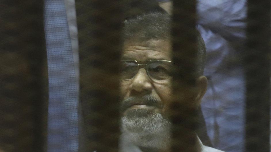 Odsouzený egyptský exprezident Muhammad Mursí.