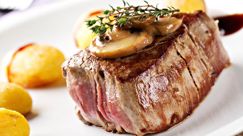 Steak připravený jako