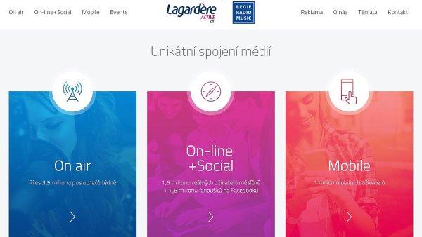 Nový web Lagardere