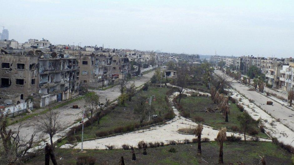Sýrie - zničený Homs