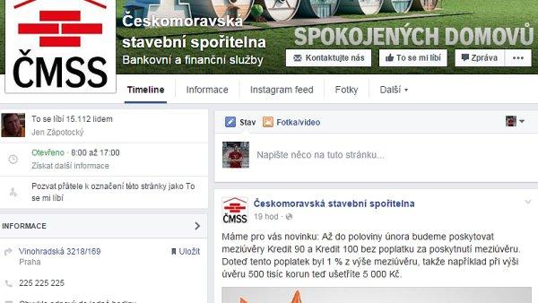 Českomoravská stavební spořitelna má momentálně jeden z nejúspěšnějších facebookových profilů mezi bankovními domy