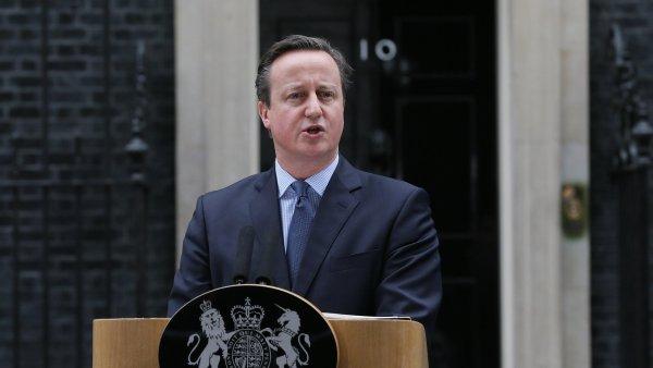 Britský premiér David Cameron o referendu promluvil na Downing Street v Londýně.