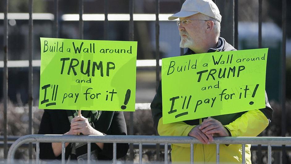 USA, volby, prezident, Trump, protest