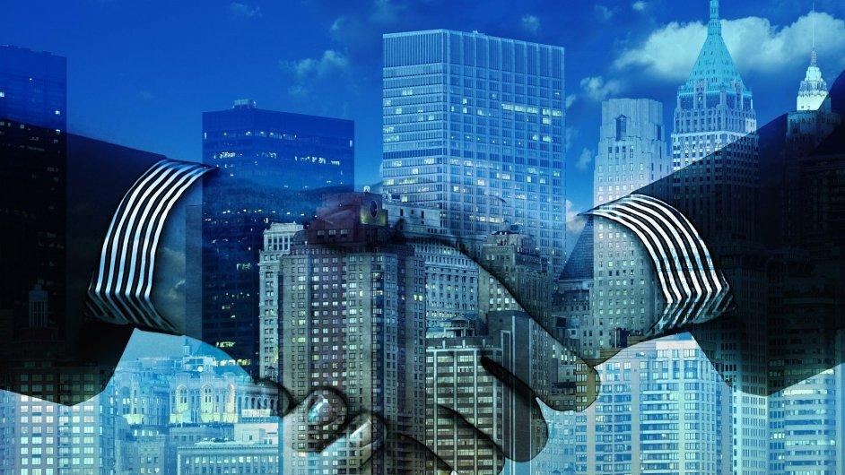 Akvizice, smlouva, investice, ilustrace