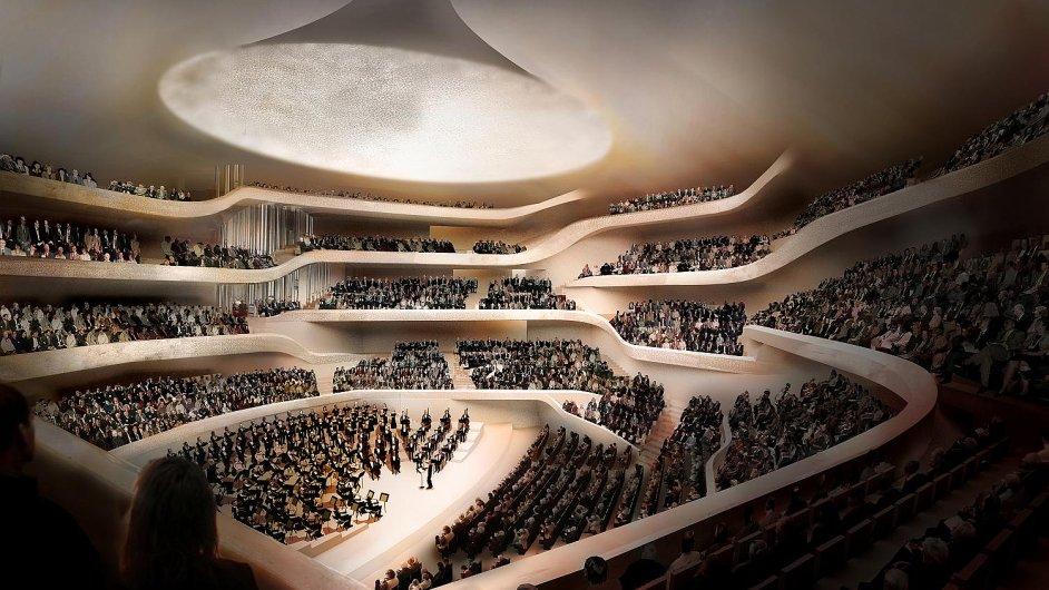 Návrh budovy Labské filharmonie