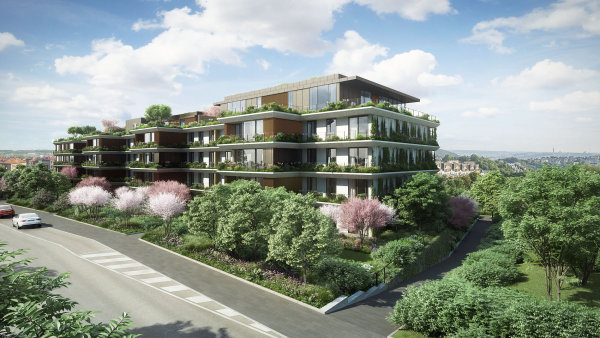 Projekt Sakura v pražských Košířích sází mimo jiné na bujnou vegetaci, která bude na každém balkonu či terase.