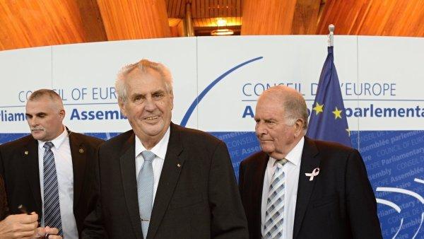 Prezident Miloš Zeman vystoupil na Parlamentním shromáždění Rady Evropy.